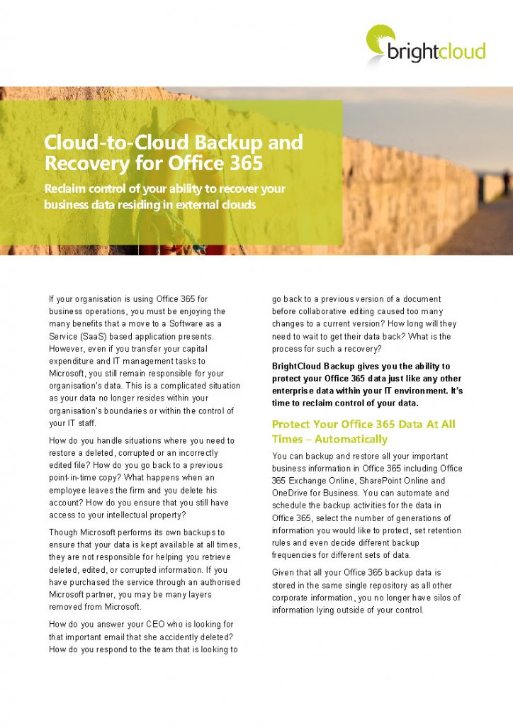 BC - Office 365 Backup Datasheet_Page_1