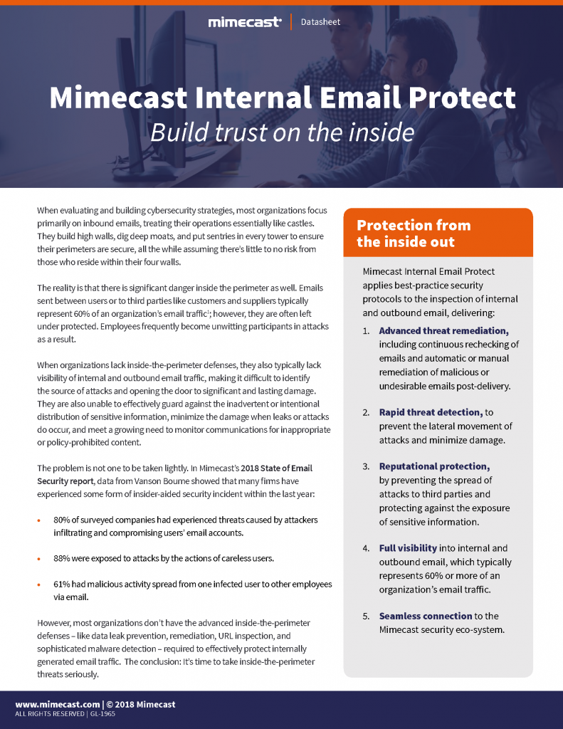 Mimecast Internal Email Protect Datasheet Page_1
