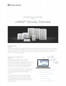 cnPilot Security Overview_Page_1